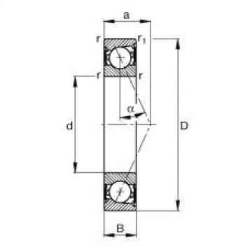 Rodamiento B71905-E-2RSD-T-P4S FAG