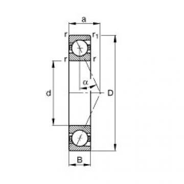 Rodamiento B7016-E-T-P4S FAG