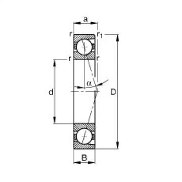 Rodamiento B7008-C-T-P4S FAG