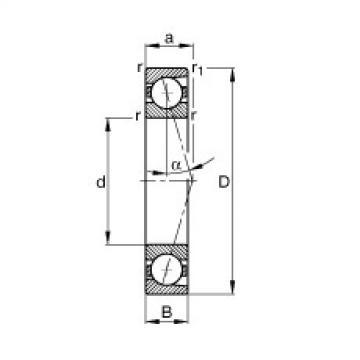 Rodamiento B7030-C-T-P4S FAG
