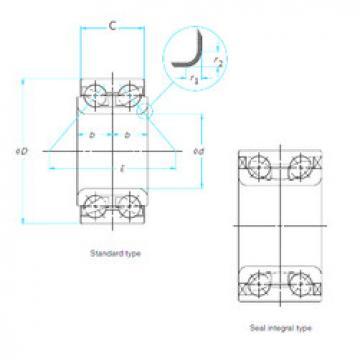 Rodamiento DAC38710233/30 ISO