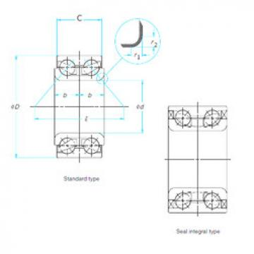 Rodamiento DAC38730040 ISO