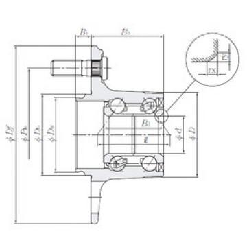 Rodamiento HUB184-4 NTN