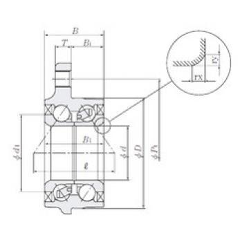 Rodamiento HUB223-6 NTN