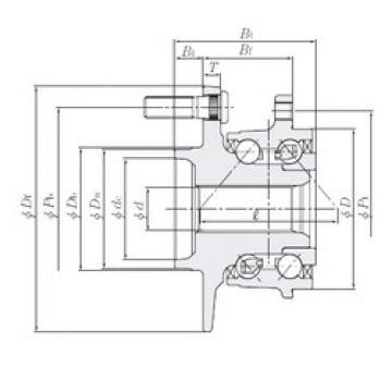 Rodamiento HUB251-4 NTN