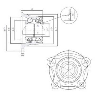 Rodamiento HUB121-4 NTN