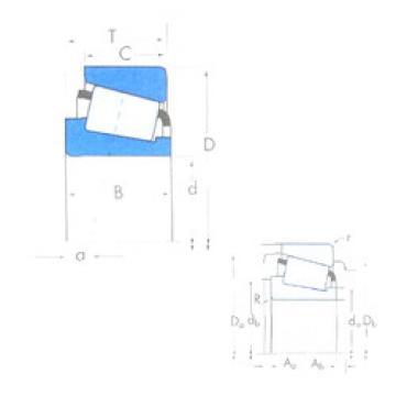 Rodamiento X32218M/Y32218M Timken