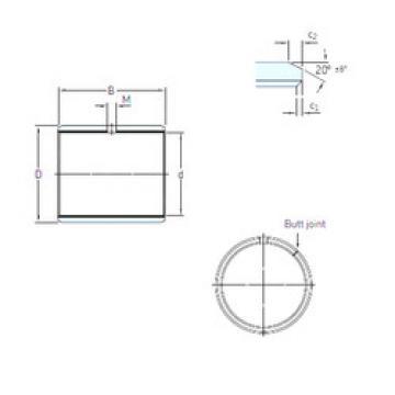 Rodamientos PCM 404430 E SKF