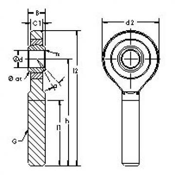 Rodamientos SA70ET-2RS AST