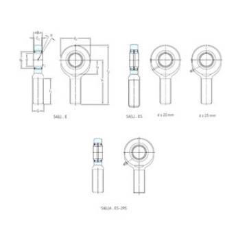 Rodamientos SA70ES-2RS SKF