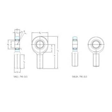 Rodamientos SALA60TXE-2LS SKF