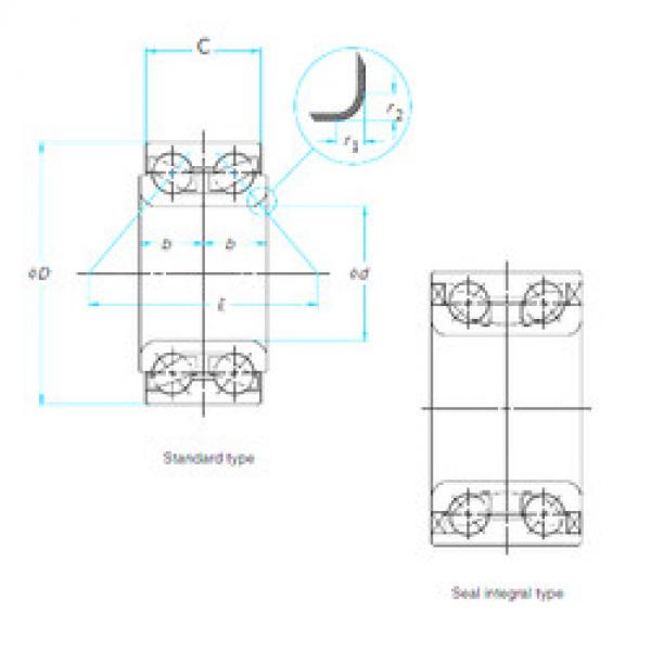 Rodamiento DAC306037-2RS KOYO #1 image