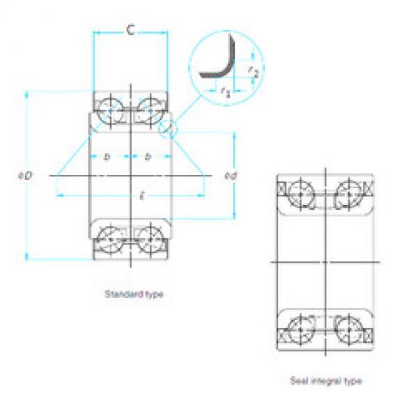 Rodamiento DE08A55LLCS38PX1/L26 NTN #1 image