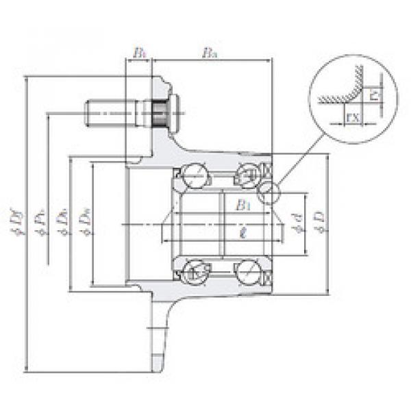 Rodamiento HUB008-48 NTN #1 image