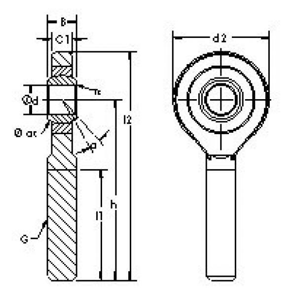 Rodamientos SAJK12C AST #1 image
