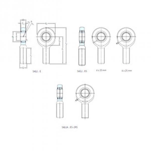 Rodamientos SA70ES-2RS SKF #1 image