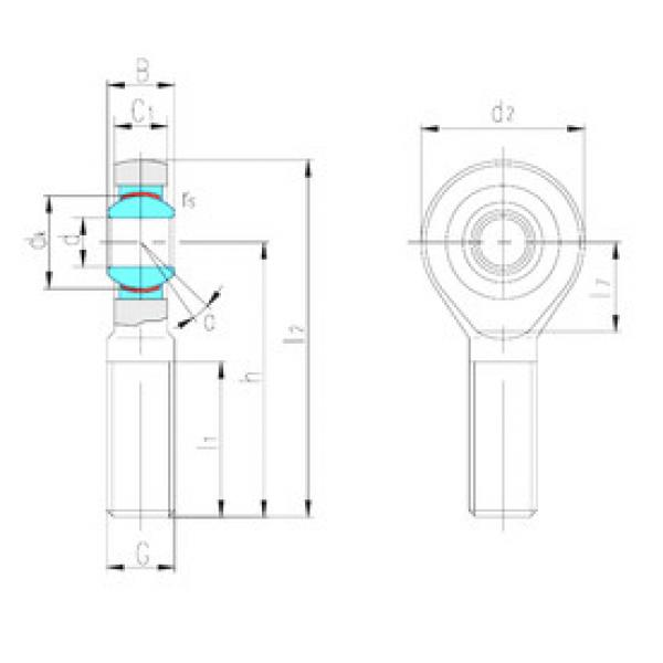 Rodamientos SAJK30C LS #1 image