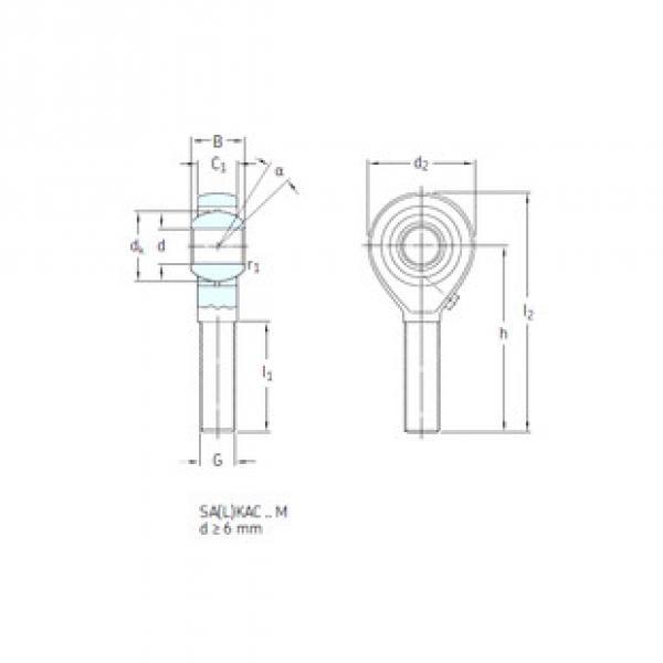 Rodamientos SALKAC12M SKF #1 image